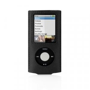 Belkin Eco-Conscious Leather Sleeve Case for iPod nano 4G 4th Generation 8GB/16GB Video Black F8Z383