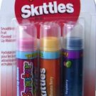 Bonne Bell Lip Smacker Skittles 3 Tubes Strawberry Starfruit, Banana Berry and Raspberry