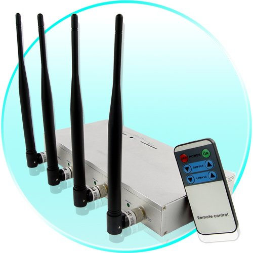 Mounted Cellphone Jammer with Signal Strength Remote