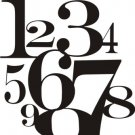 NUMBERS WALL VINYL DECALS ART GRAPHICS STICKERS