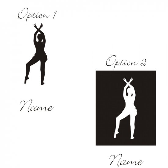 Personalized Cielo Ballerina Wall Vinyl Decals Art Graphics Stickers