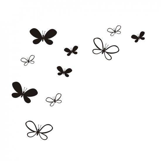 Mixed Butterflies Wall Vinyl Decals Art Graphics Stickers