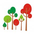 Forest of Colors Wall Vinyl Decals Art Graphics Stickers