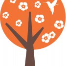 Hummingbird Tree Wall Vinyl Decals Art Graphics Stickers