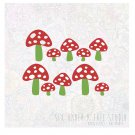 Little Mushrooms Wall Vinyl Decals Art Graphics Stickers