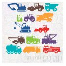 CONSTRUCTION TRUCKS VOL 1-2 WALL VINYL DECALS ART GRAPHICS STICKERS