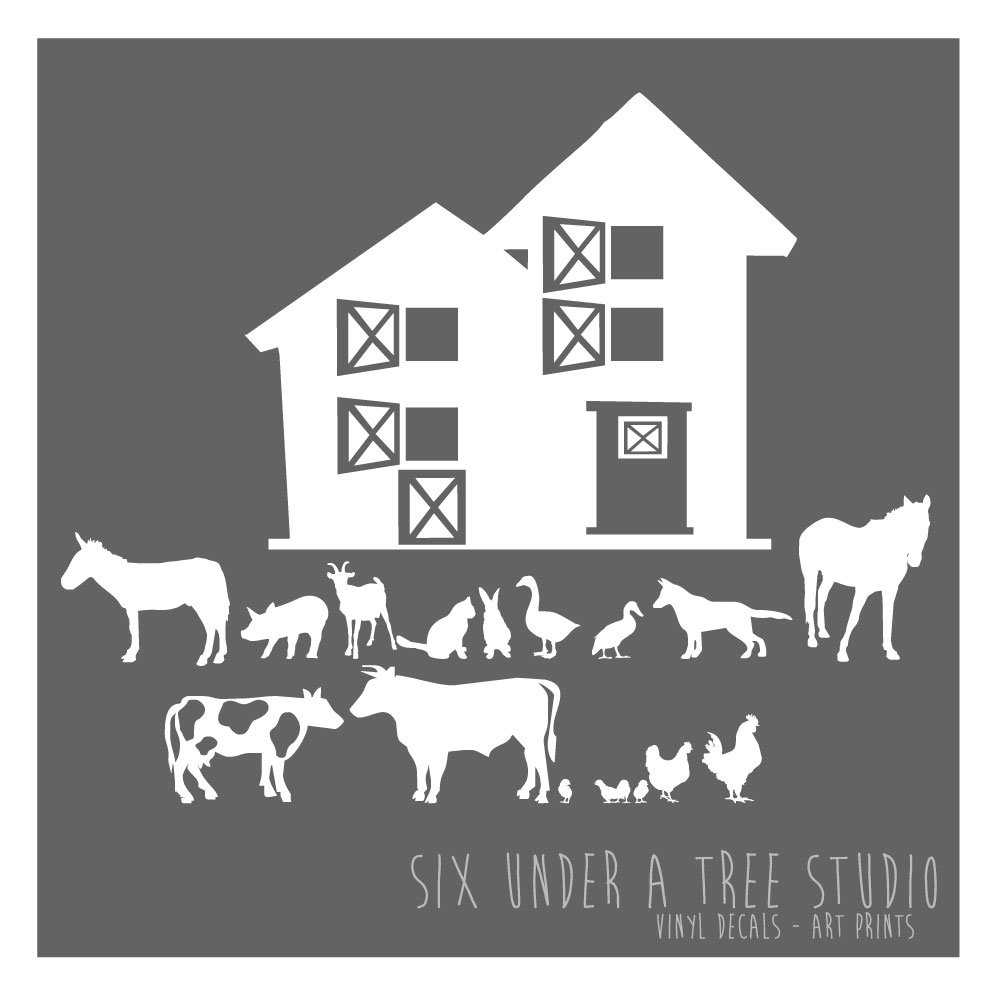 THE FARM WALL VINYL DECALS ART GRAPHICS STICKERS