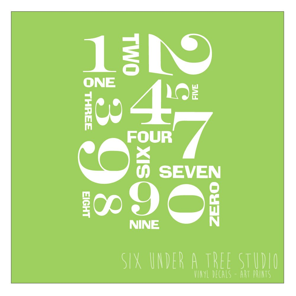 MORE NUMBERS WALL VINYL DECALS ART GRAPHICS STICKERS