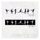 BALLERINAS WALL VINYL DECALS ART GRAPHICS STICKERS