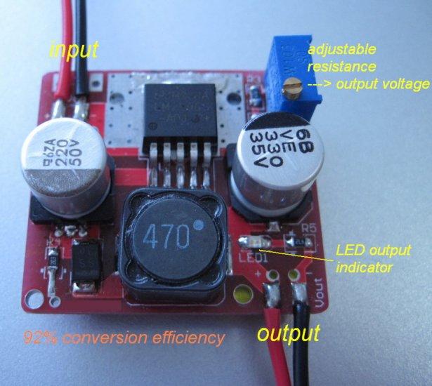 DIY LM2596 Based Adjustable DC-DC Step Down Voltage Converter