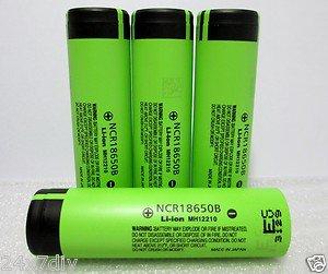 Panasonic NCR18650B 3400mA Li-ion Rechargeable Original Batteries 4Pcs