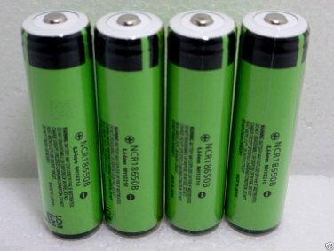 4X Panasonic NCR18650B 3400mA Li-ion Rechargeable Protected Button Top Batteries