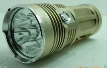 Skyray King Golden 6x CREE XM-L T6 Based Flashlight 4-Modes