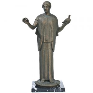 Greek Goddess Athena Statue Ancient Symbol of Peace Sculpture