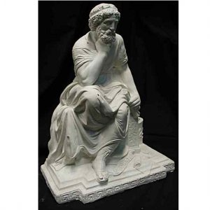 Ancient Greek Philosopher Socrates Statue Home Sculpture