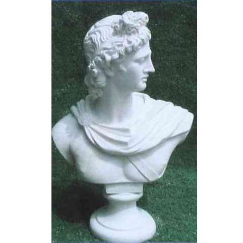 Ancient Greek God Statue APOLLO Bust Home Sculpture