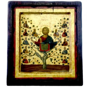 Orthodox Byzantine Icon Tree of Life of Jesus Christ