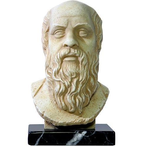 Socrates Ancient Greek Philosopher Bust Sculpture