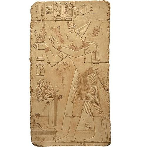 Offering of Maat Relief wall art, Stone Finish