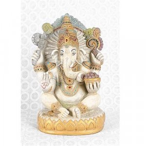 Seated Ganesh Statue, Hindu God of Wisdom and Success