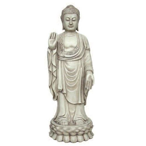 Statue of Buddha Standing in Pose of Dispelling Fear