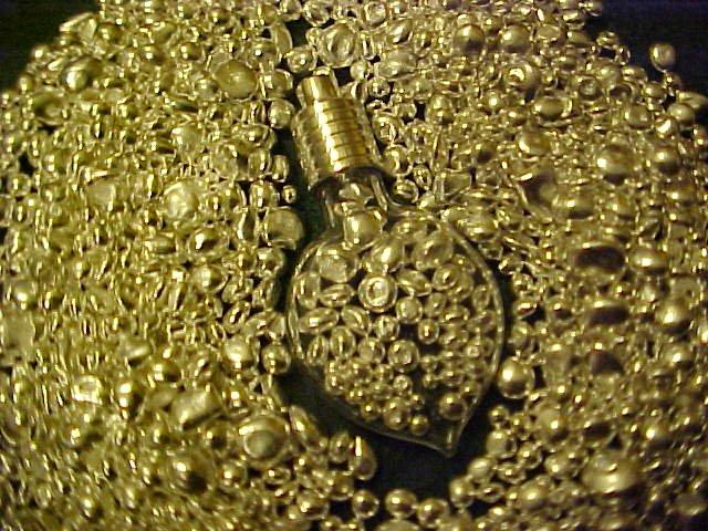 BLOWN GLASS HEART DROP PENDANT silver bullion uNiQuE gift idea