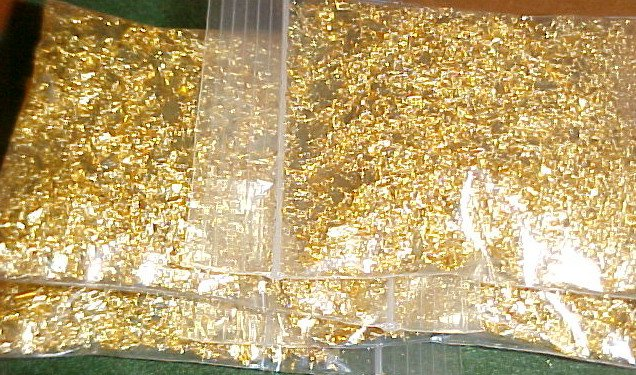 WHOLESALE GOLD FLAKES 4 OZ/OUNCE 1/4 POUND! CRAFTS VIALS