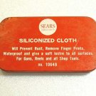 OLD VINTAGE SEARS ROEBUCK SILICONIZED CLOTH TIN FOR FISHING REELS GUNS TOOLS