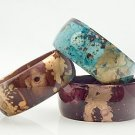 Paint Splattered Bamboo Bangle