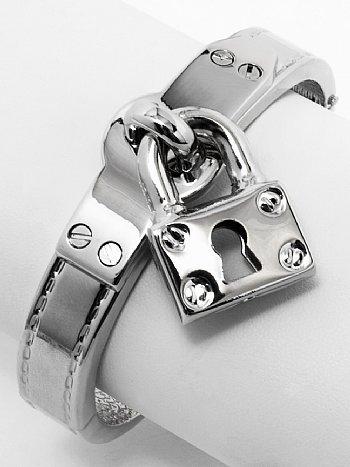 Dangling Charm Cuff Buckle Bracelet