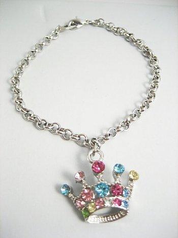 Rhinestone Crown Bracelet