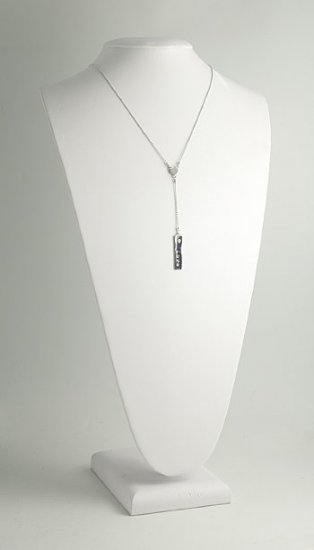 "Peace/Love Rectangle Charm ""Y"" Necklace"