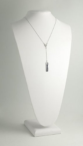 """Peace/Love Rectangle Charm """"Y"""" Necklace"""