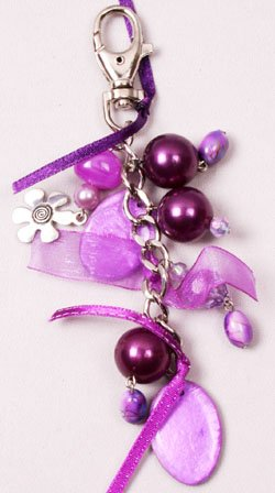 Purple Beaded Chain Clip