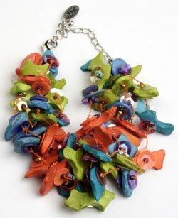 Multi color bracelet on chain