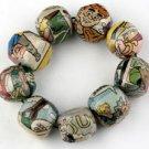 Comic Paper Mache Stones Bracelet