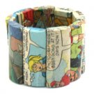 Comic Paper Mache Rectangle Bracelet Our COMIC collection!