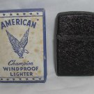 WWII AMERICAN CHAMPION WINDPROOF LIGHTER - Crackle Black New In Box