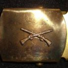 WWII INFANTRY BRASS BUCKLE For Web Belt Army NEW