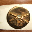 "WWII INFANTRY ""H"" COLLAR PIN - Brass - Screw Back Brand New"