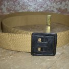 WWII ARMY BELT BLACK BUCKLE Khaki New Never Worn Size 36