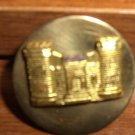 WWII CORPS OF ENGINEER COLLAR DISC PIN Screw Back