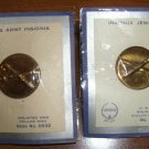 WWII 2 ARTILLERY ARMY INSIGNIA ENLISTED MAN COLLAR PINS