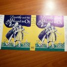 Original dust jacket for Dorothy and the Wizard of Oz