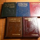 Set of 5 Frank Baum Oz leather books with color plates by Easton Press