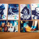 Wizard of Oz tele-trading cards.  6 cards. $5 value each. Unused.