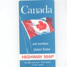 Vintage Canada & Northern United States Highway Map