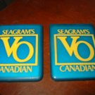 Seagram's VO Canadian Advertising Travel Mirror Lot of 2