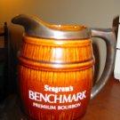 Seagram's Benchmark Premium Bourbon Barrel Advertising Pitcher