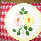 Blue Ridge Pottery Wrinkled Rose? Dinner Plate Yellow & Pink Flowers Marked